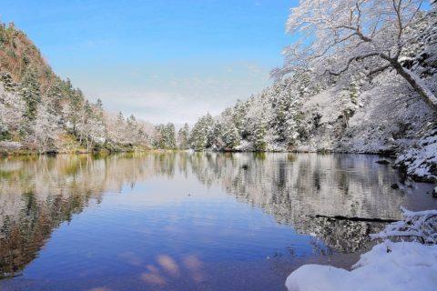 弥陀ヶ池の雪