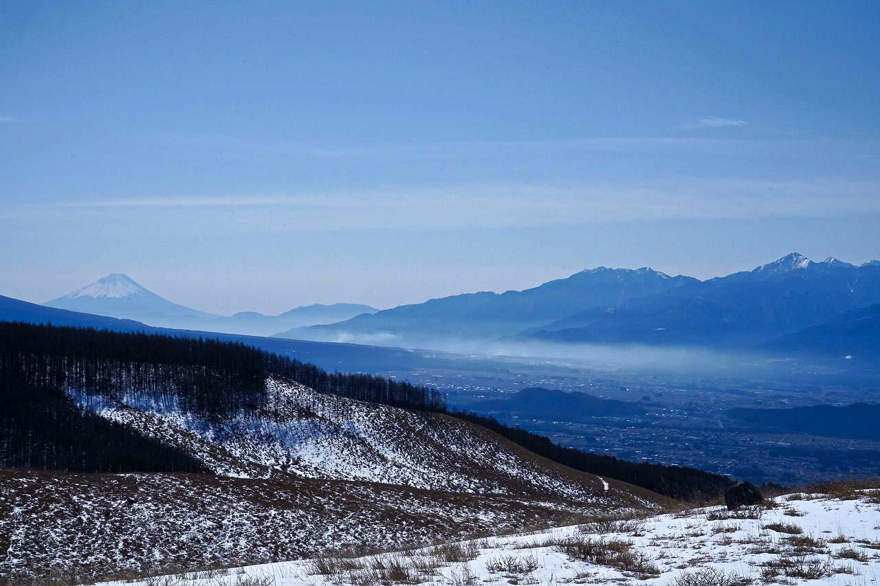 アルプスと富士山 霧ヶ峰富士見 暮らし環境